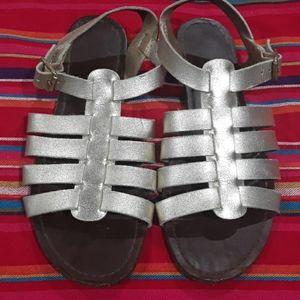 Gold gladiator sandals 6.5